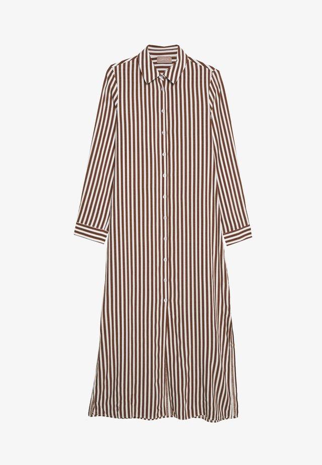 Košilové šaty - white/brown