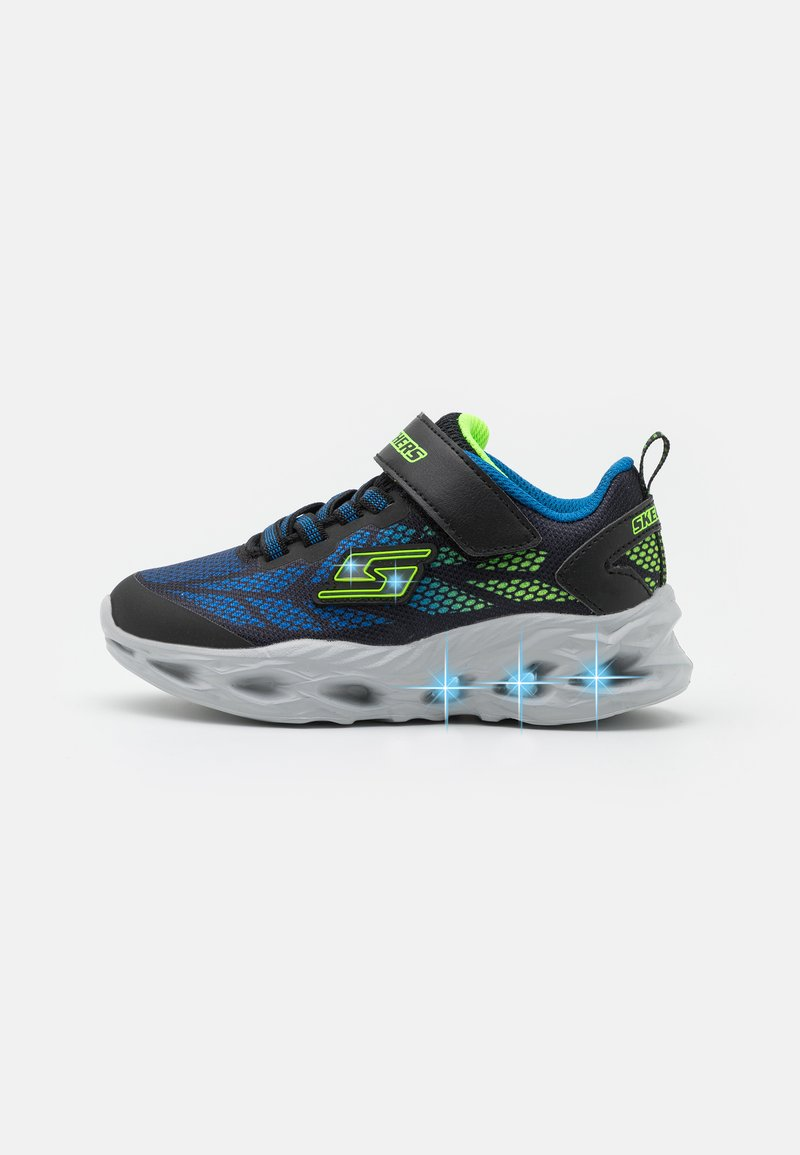 Skechers - VORTEX FLASH - Tenisky - black/blue/lime