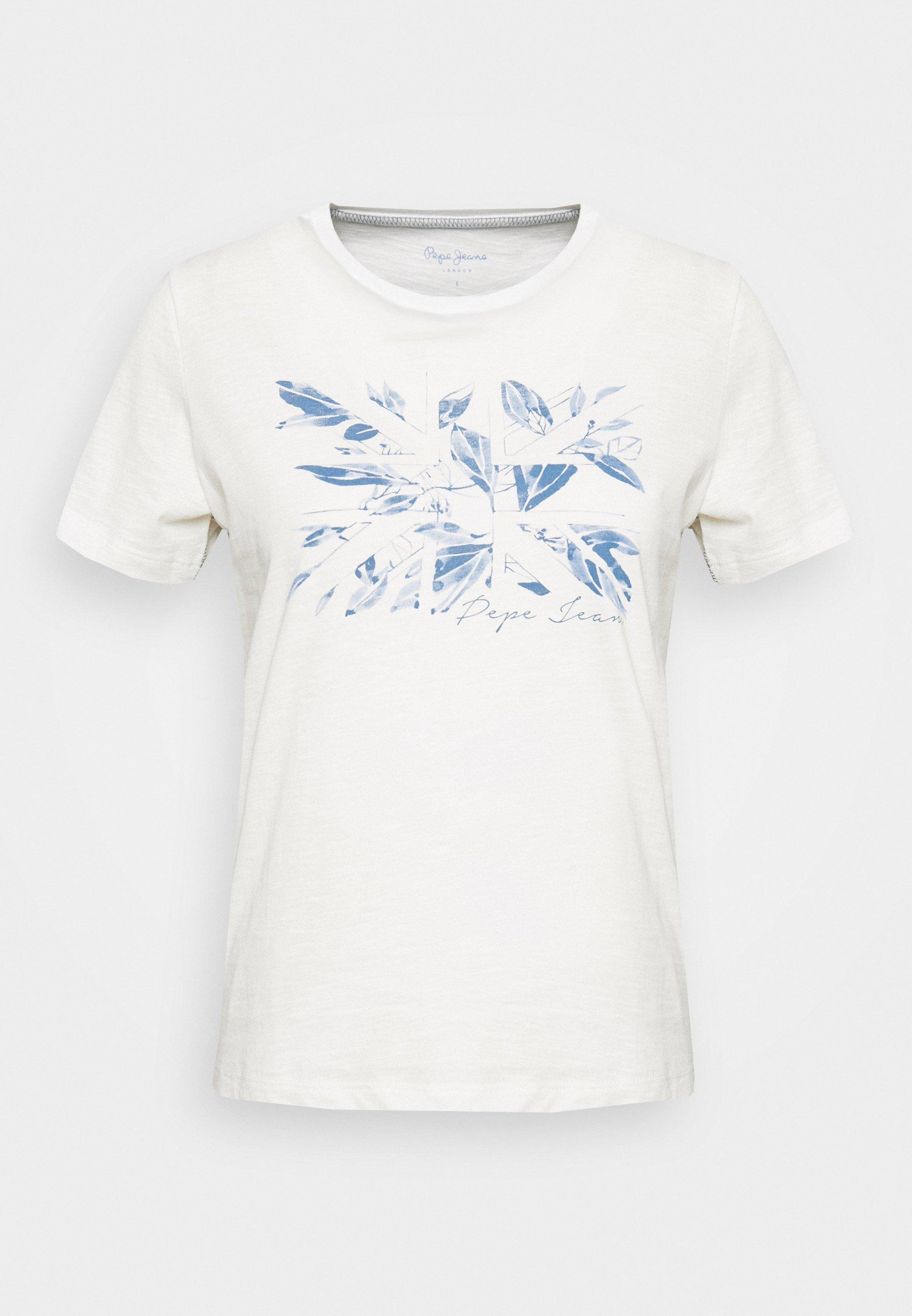 Pepe Jeans Adriana - T-shirts Med Print Mousse/hvit