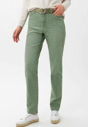 STYLE CAROLA - Slim fit jeans - used mint green