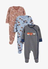 Next - 3 PACK - Sleep suit - dark blue - 0