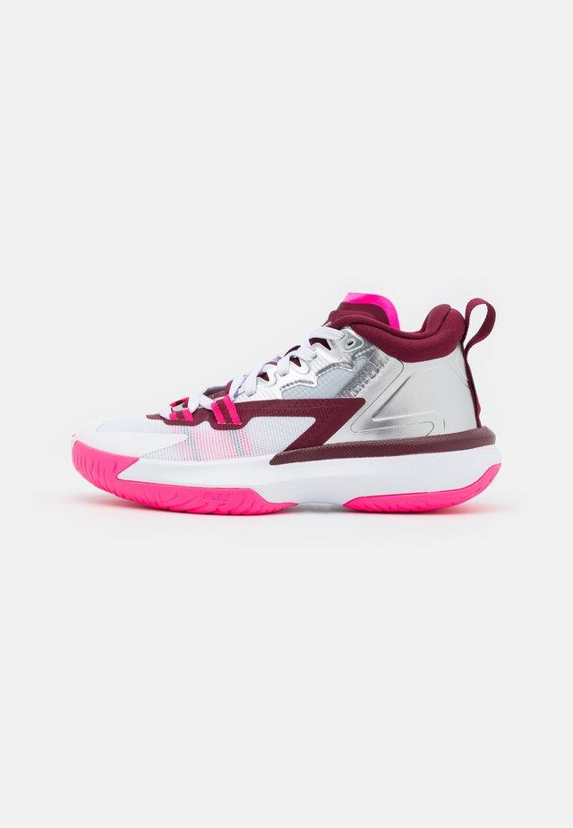 ZION 1 UNISEX - Basketbalschoenen - dark beetroot/metallic red bronze/sweet beet/sesame/pink blast/grey fog