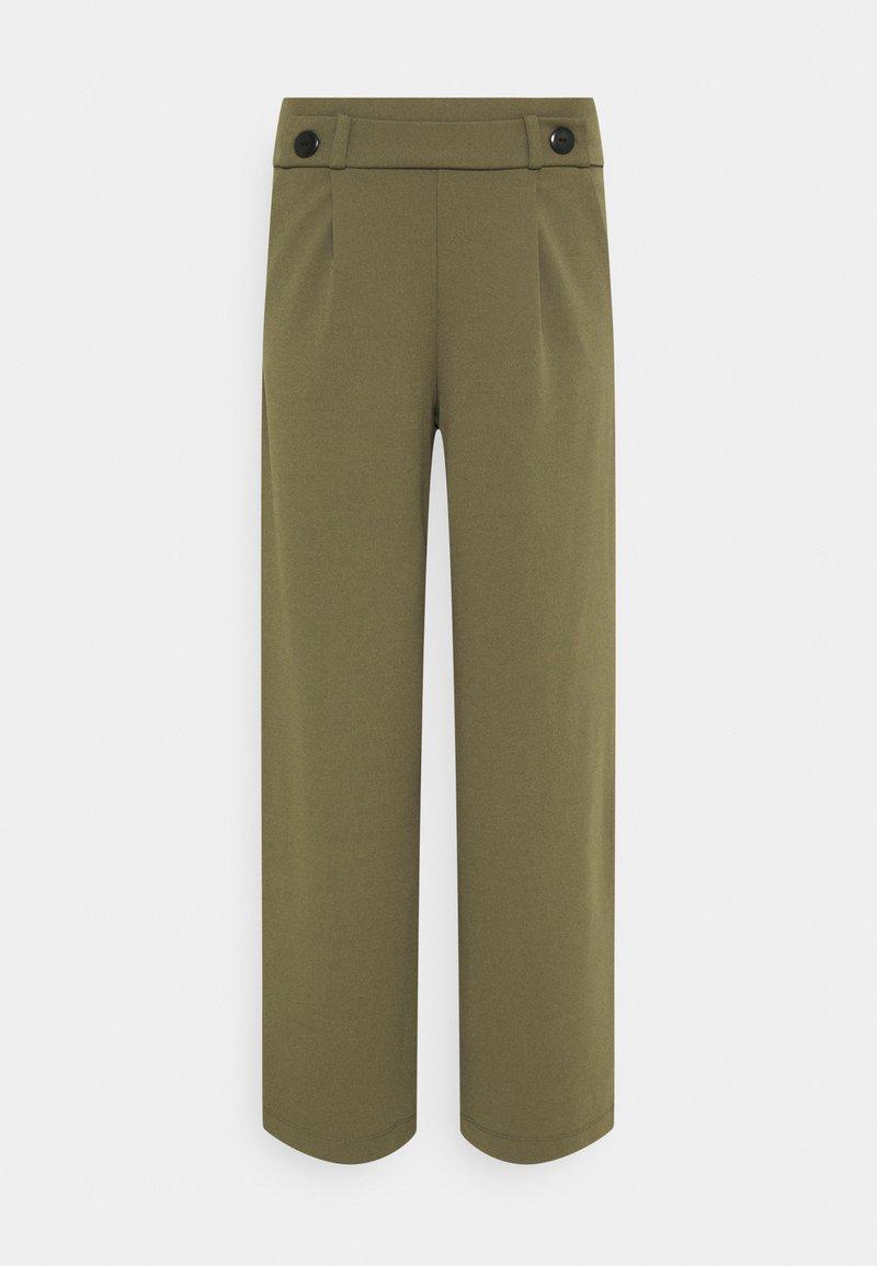 JDY - JDYGEGGO NEW LONG PANT - Trousers - kalamata/black
