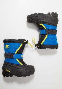 Sorel - YOUTH FLURRY - Zimní obuv - black/super blue - 0