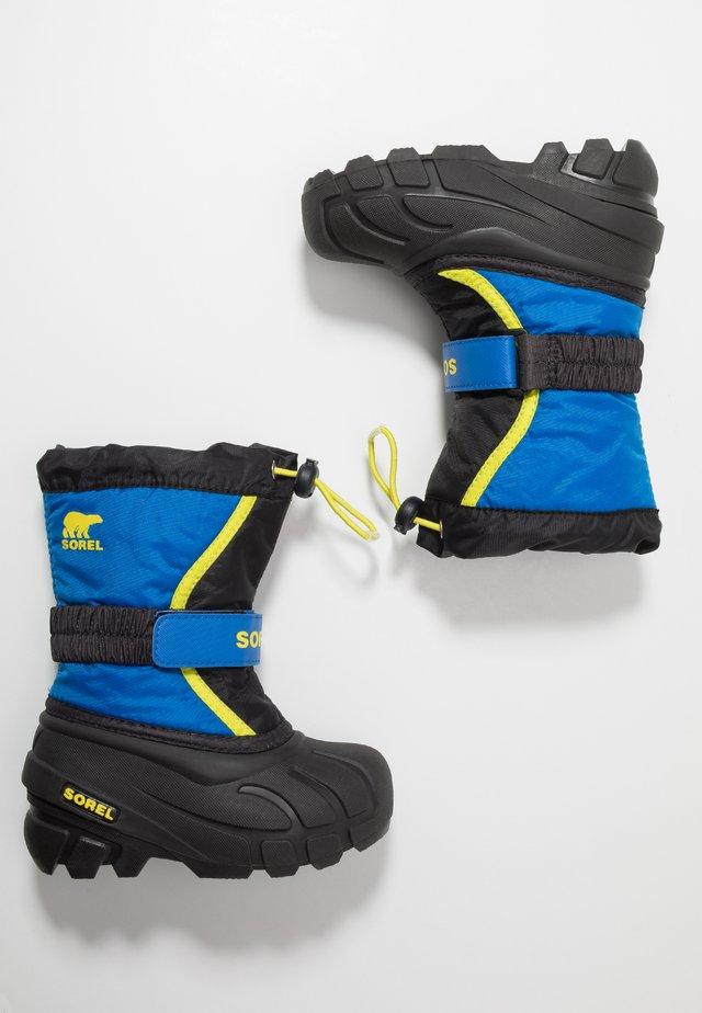 YOUTH FLURRY - Winter boots - black/super blue
