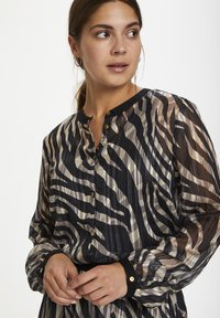 Kaffe - KAVENDA  - Button-down blouse - black zebra print - 3