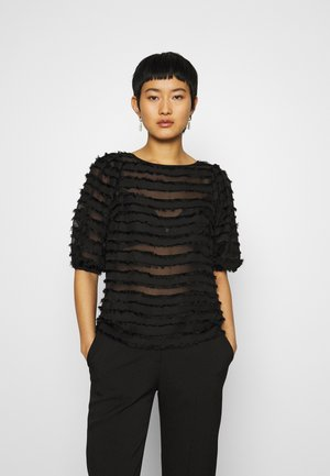 SLEEVE TASSEL  - Blouse - black