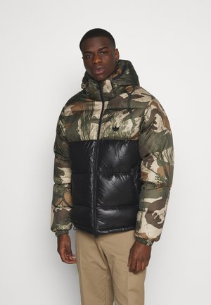 CAMO UNISEX - Down jacket - mucoca/black