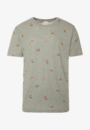 BELMONT - Print T-shirt - dark grey melee