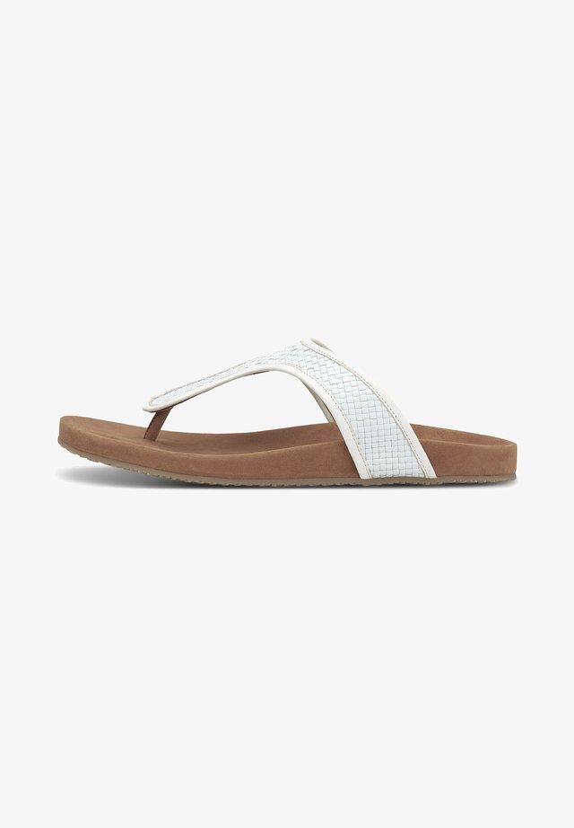 ZEHENTRENNER - T-bar sandals - weiß