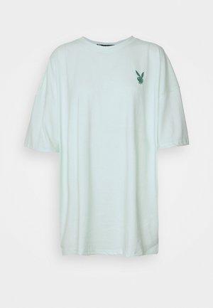 PLAYBOY LOGO DETAIL OVERSIZED - T-shirt imprimé - green