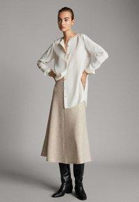 Massimo Dutti - A-line skirt - beige - 0