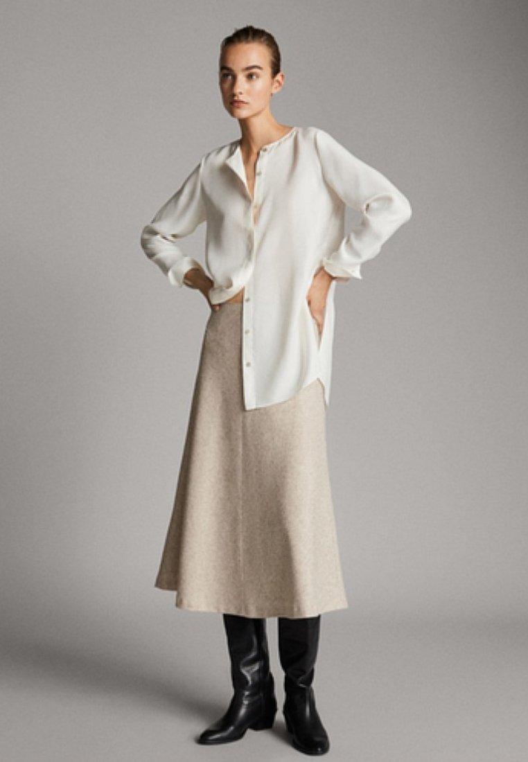 Massimo Dutti - A-line skirt - beige