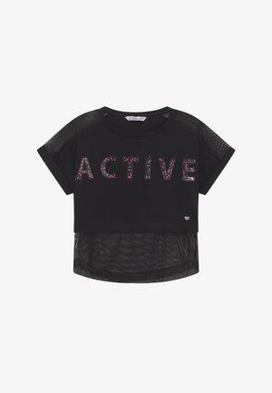 AMAL - T-shirt imprimé - black