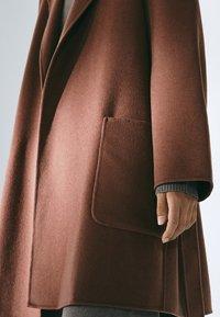 Massimo Dutti - Classic coat - light brown - 5