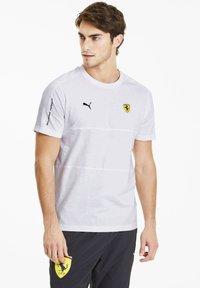 Puma - SCUDERIA FERRARI T7  - Print T-shirt -  white - 0