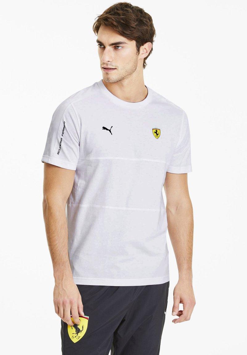 Puma - SCUDERIA FERRARI T7  - Print T-shirt -  white