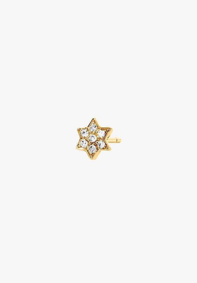 STAR DIAMOND SINGLE EARRING - Boucles d'oreilles - 18k yellow gold vermeil