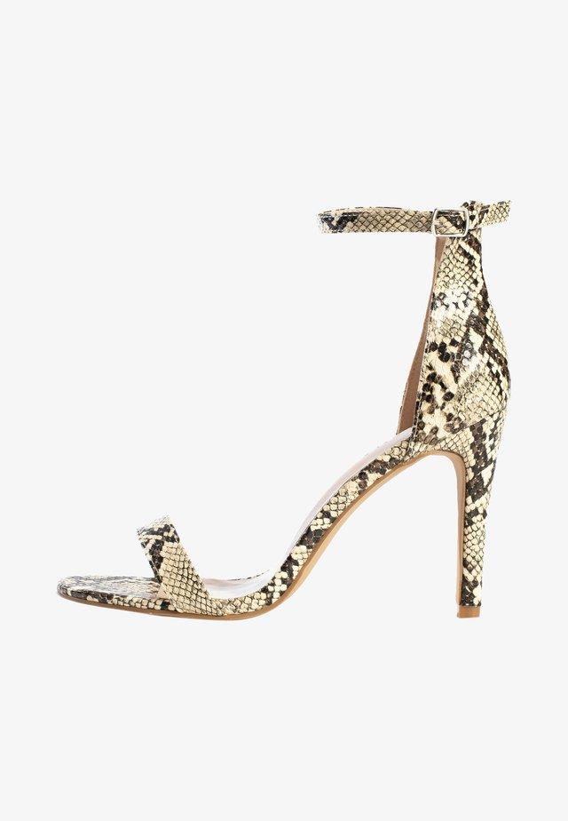 Sandalen met hoge hak - beige melange