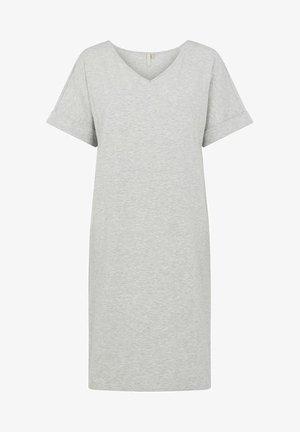 PCNEORA FOLD UP DRESS - Jersey dress - light grey melange