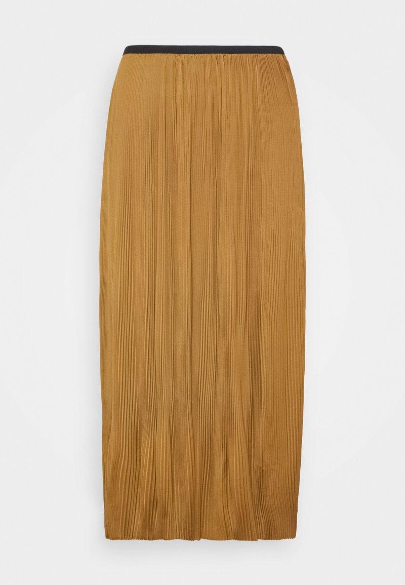 Modström - HELIN SKIRT - Pleated skirt - brown oak