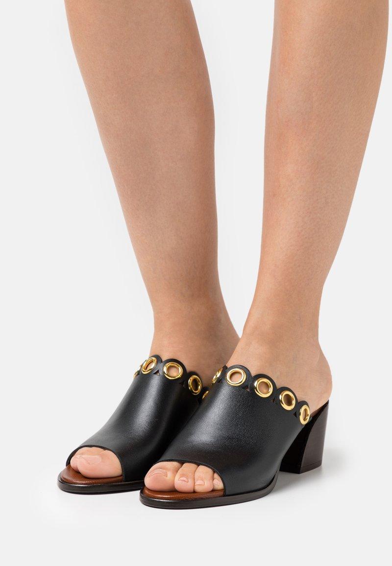 See by Chloé - STEFFI MULE - Pantofle na podpatku - black