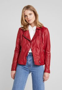 Ibana - WAVES - Leather jacket - red - 0