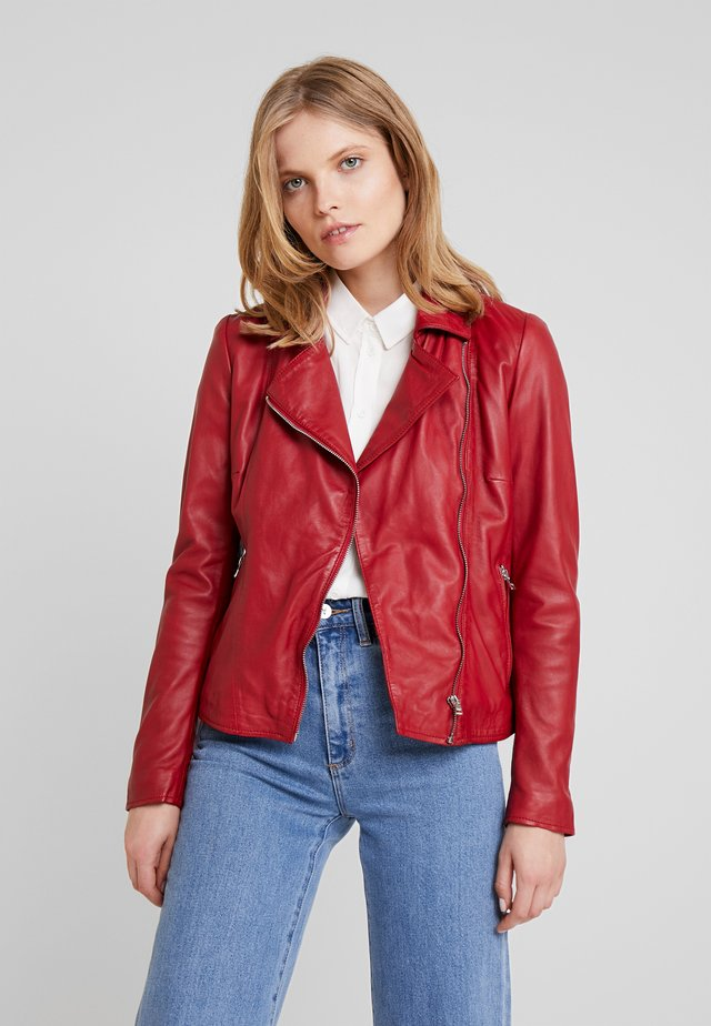 WAVES - Leather jacket - red