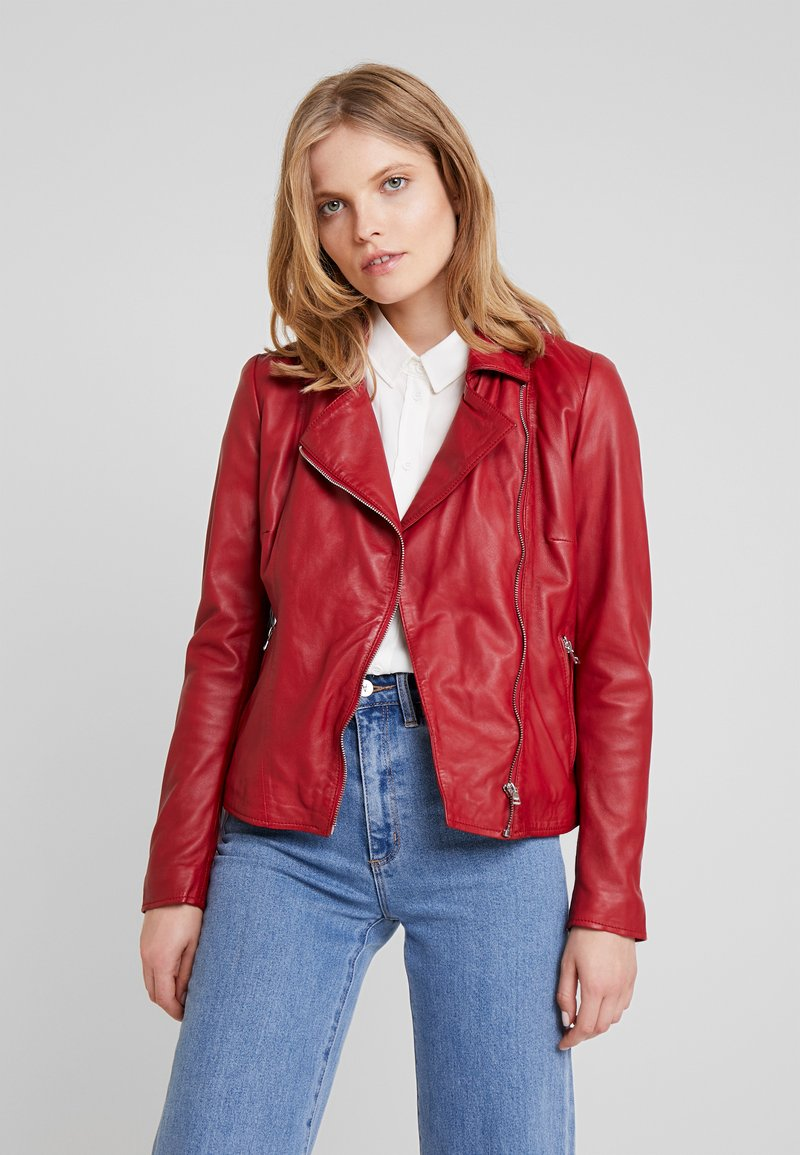 Ibana - WAVES - Leather jacket - red