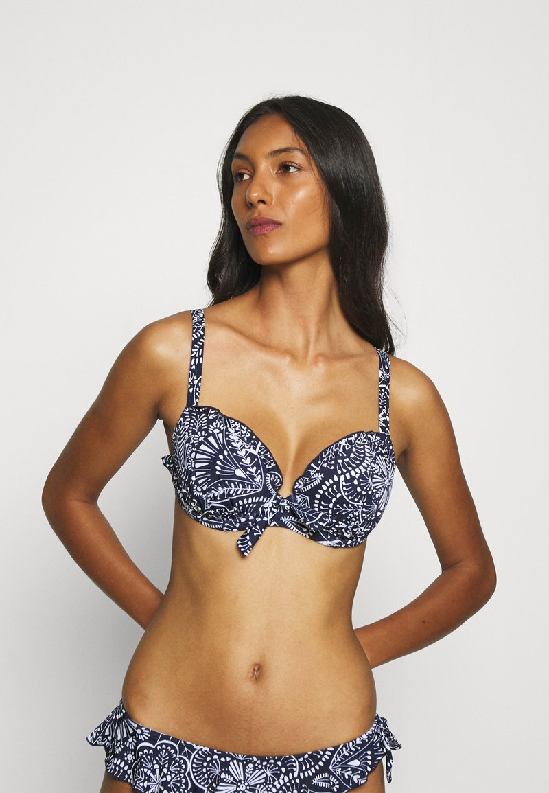 Pour Moi - HOT SPOTS LIGHTLY PADDED UNDERWIRED - Bikini top - navy scandi