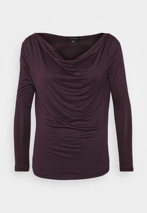 Maglietta a manica lunga - dark plum