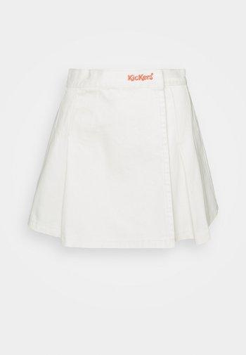 PLEATED TENNIS SKIRT - Mini skirt - beige