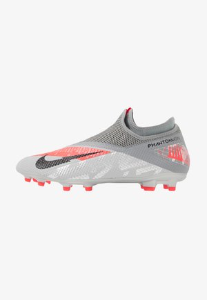 PHANTOM VISION 2 ACADEMY DF FG/MG - Fotbollsskor fasta dobbar - metallic bomber grey/black/particle grey