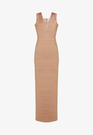 V-NECK DRESS - Occasion wear - gold