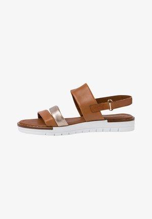 Platform sandals - cognac ant.com