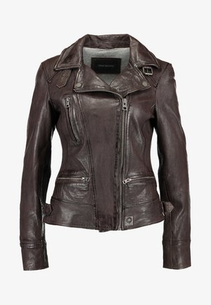 VIDEO - Veste en cuir - brown