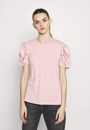RUHED - T-shirts med print - mid pink