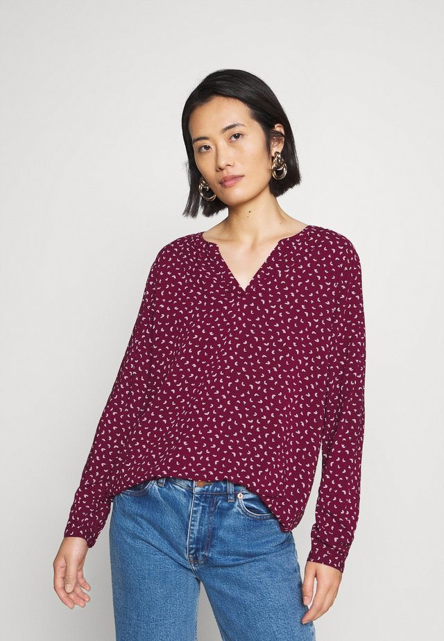 BLOUSE - Blusa - bordeaux red