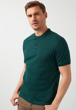 Poloshirt - dark green melange