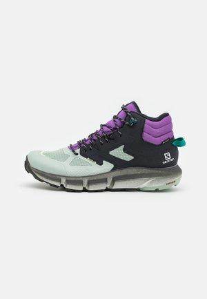 PREDICT HIKE MID GTX - Hiking shoes - black/aqua gray/royal lilac