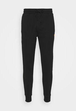 WITH CONTRAST PIPING - Tracksuit bottoms - true black