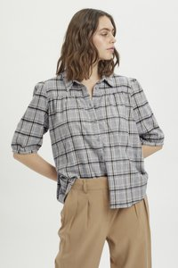 My Essential Wardrobe - MWBELLE PUFF - Button-down blouse - charcoal gray check - 0