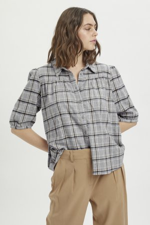 MWBELLE PUFF - Overhemdblouse - charcoal gray check