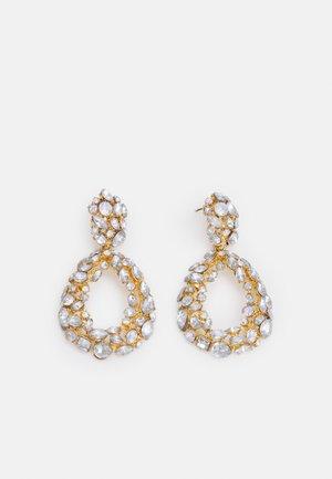 PCMARTA EARRINGS - Earrings - gold-coloured/clear