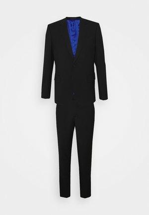 TAILORED FIT BUTTON SUIT SET - Suit - black