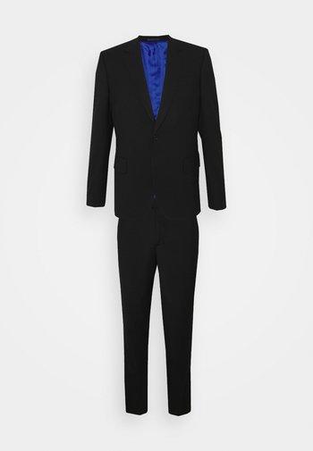 TAILORED FIT BUTTON SUIT SET - Oblek - black