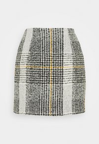 Patrizia Pepe - GONNA SKIRT - Mini skirt - black/white - 1