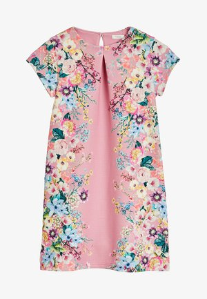 BERRY FLORAL PONTE  - Day dress - mottled pink
