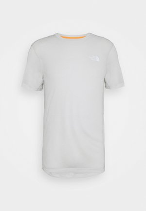CIRCADIAN TEE - T-shirt med print - grey white heather/tin grey