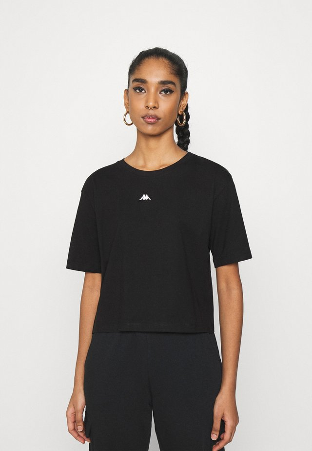 HELENE - T-shirt imprimé - caviar